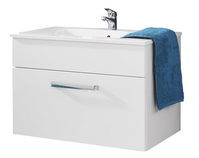 Best Waschbecken Adamo Wei Hochglanz Badezimmer Bad Waschbecken Schrank U  Bild With Bad Waschbecken Mit Schrank