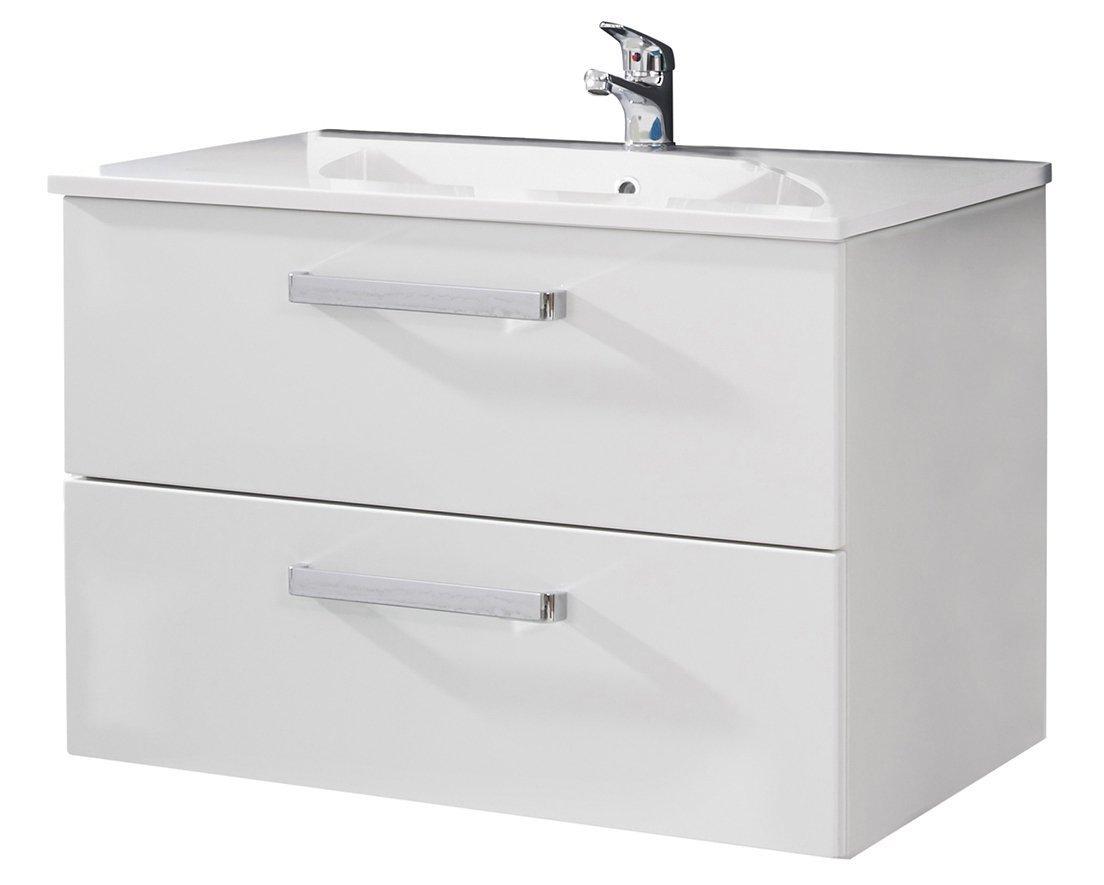 Waschbecken Mit Schrank waschbecken unterschrank adamo weiß hochglanz badezimmer bad