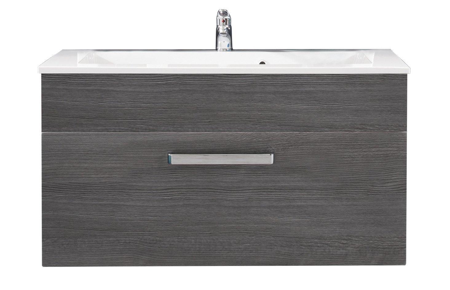 Waschbecken Unterschrank Adamo Rauchsilber Badezimmer Bad Waschbecken  Schrank U2013 Bild 5