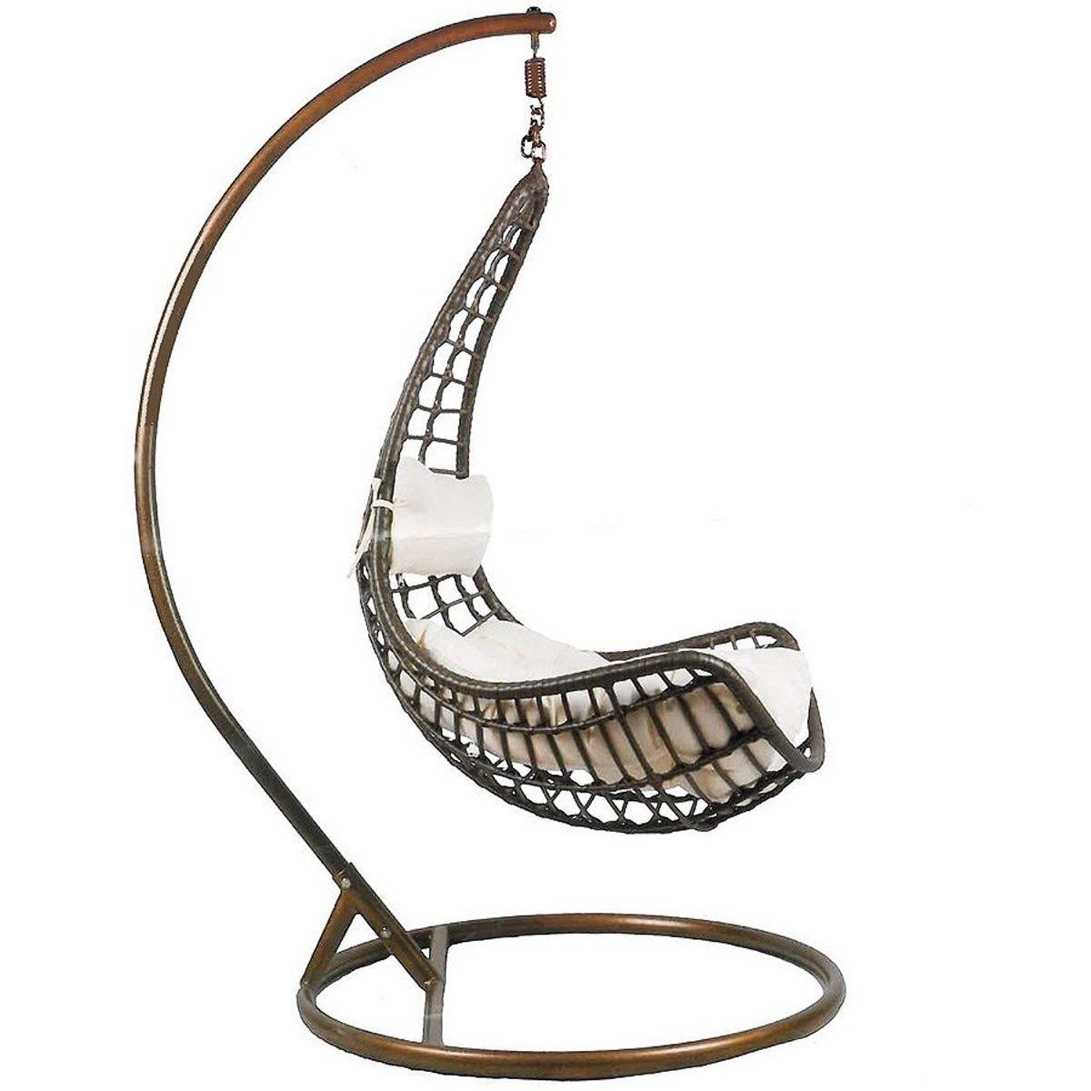 design hängesessel inkl. 2 kissen + gestell hängestuhl lounge