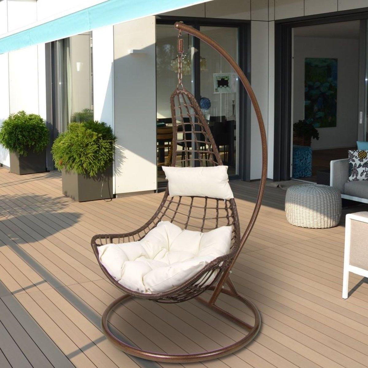 Design Hängesessel inkl. 2 Kissen + Gestell Hängestuhl Lounge ...