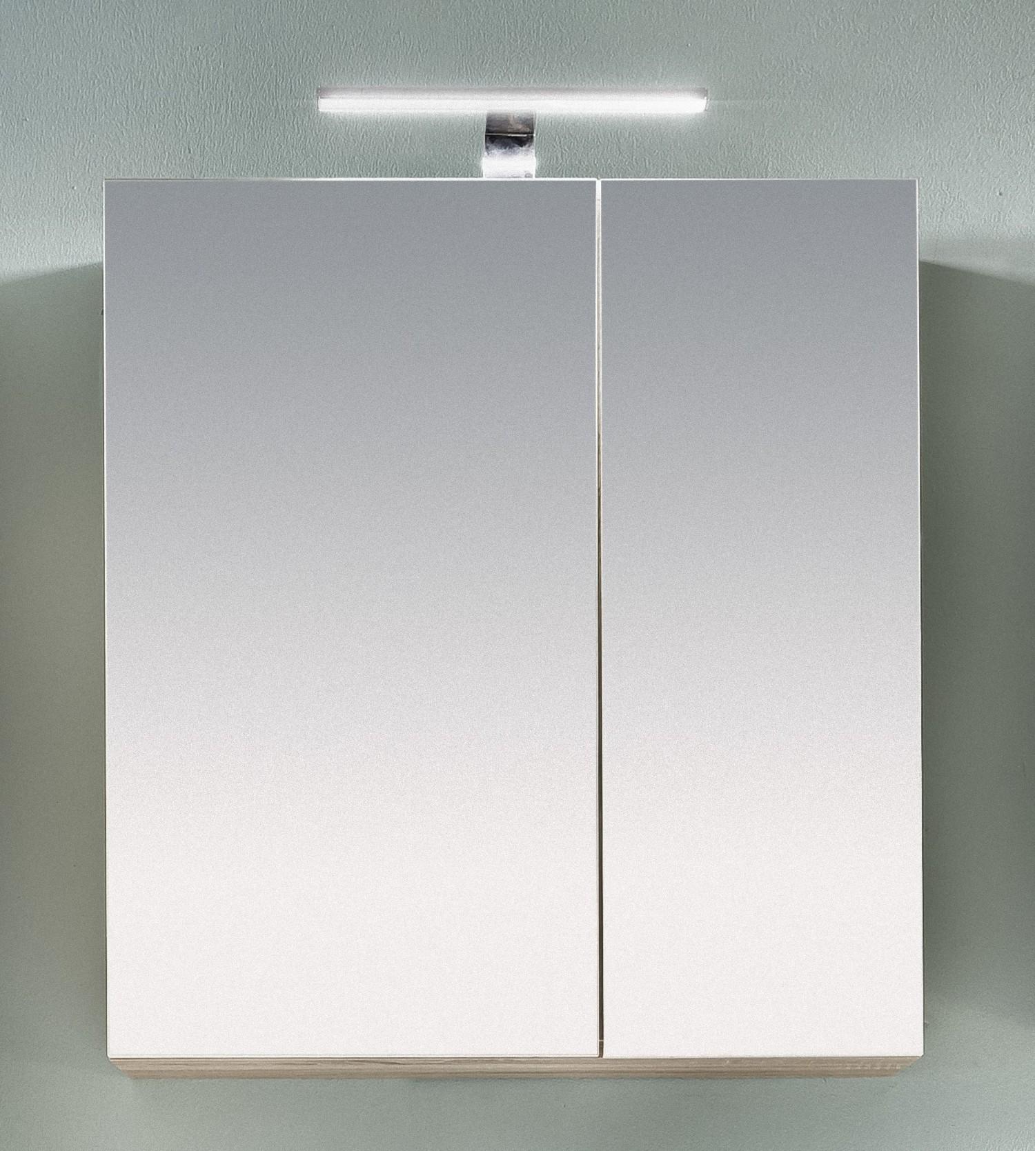 Badezimmer Spiegelschrank Porto Bad Eiche Spiegel Hängeschrank Bad ...