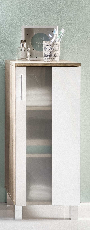 badezimmer unterschrank porto bad eiche s gerau wei glas bad schrank m bel dynamic. Black Bedroom Furniture Sets. Home Design Ideas