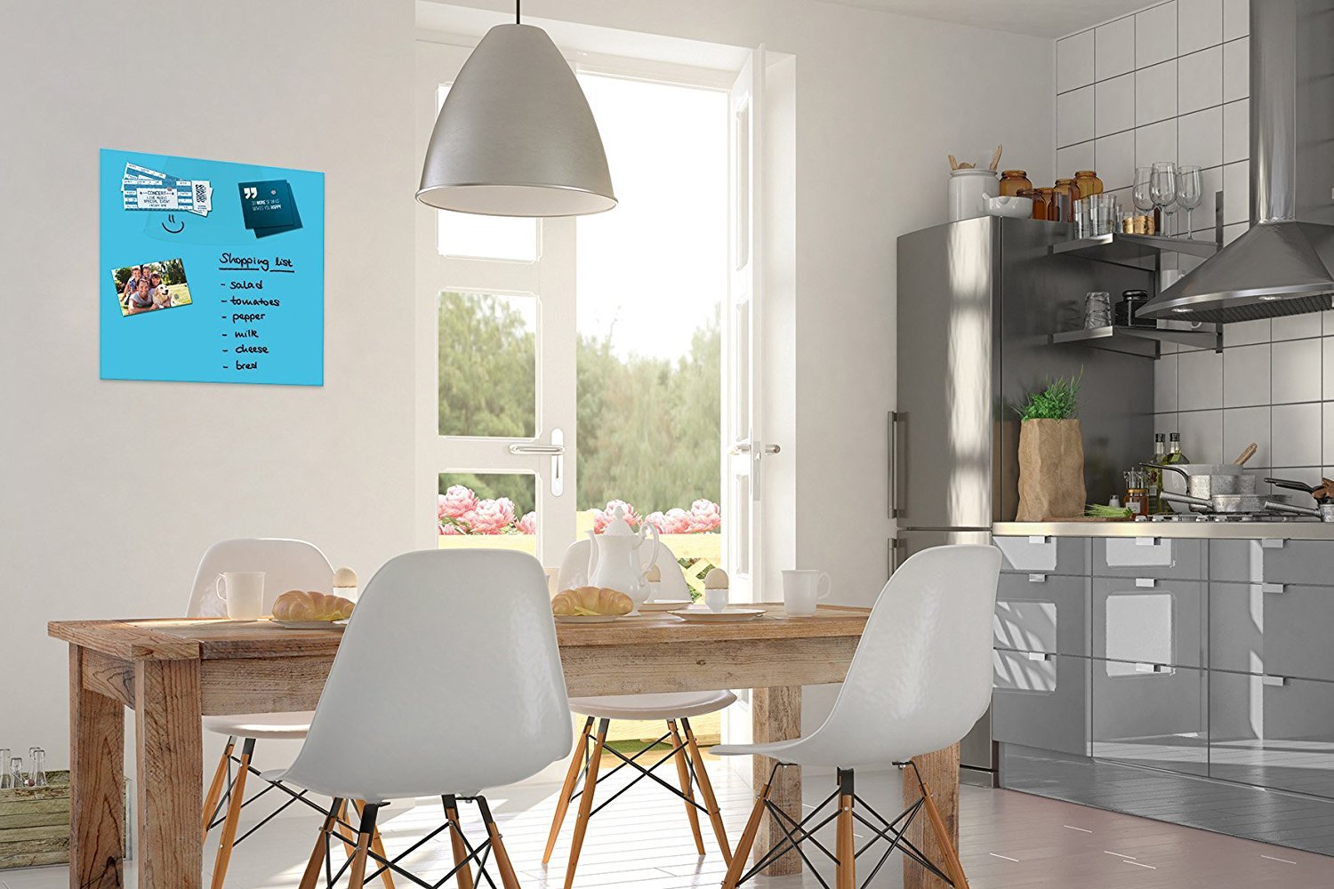 be board glas magnettafel 45x45cm magnetboard magnet tafel. Black Bedroom Furniture Sets. Home Design Ideas