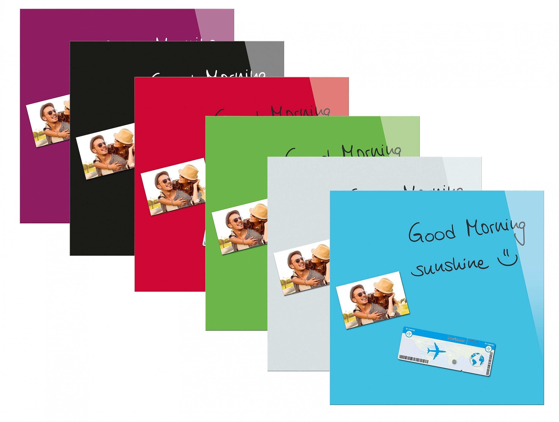 be board glas magnettafel 45x45cm magnetboard magnet tafel memoboard whiteboard business industrie. Black Bedroom Furniture Sets. Home Design Ideas