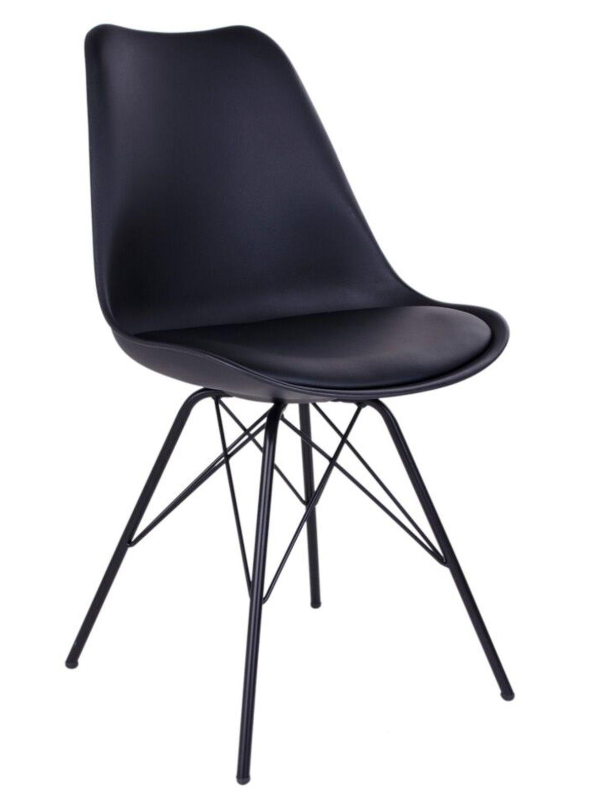2 x designerstuhl olav schwarz schalenstuhl for Schalenstuhl schwarz