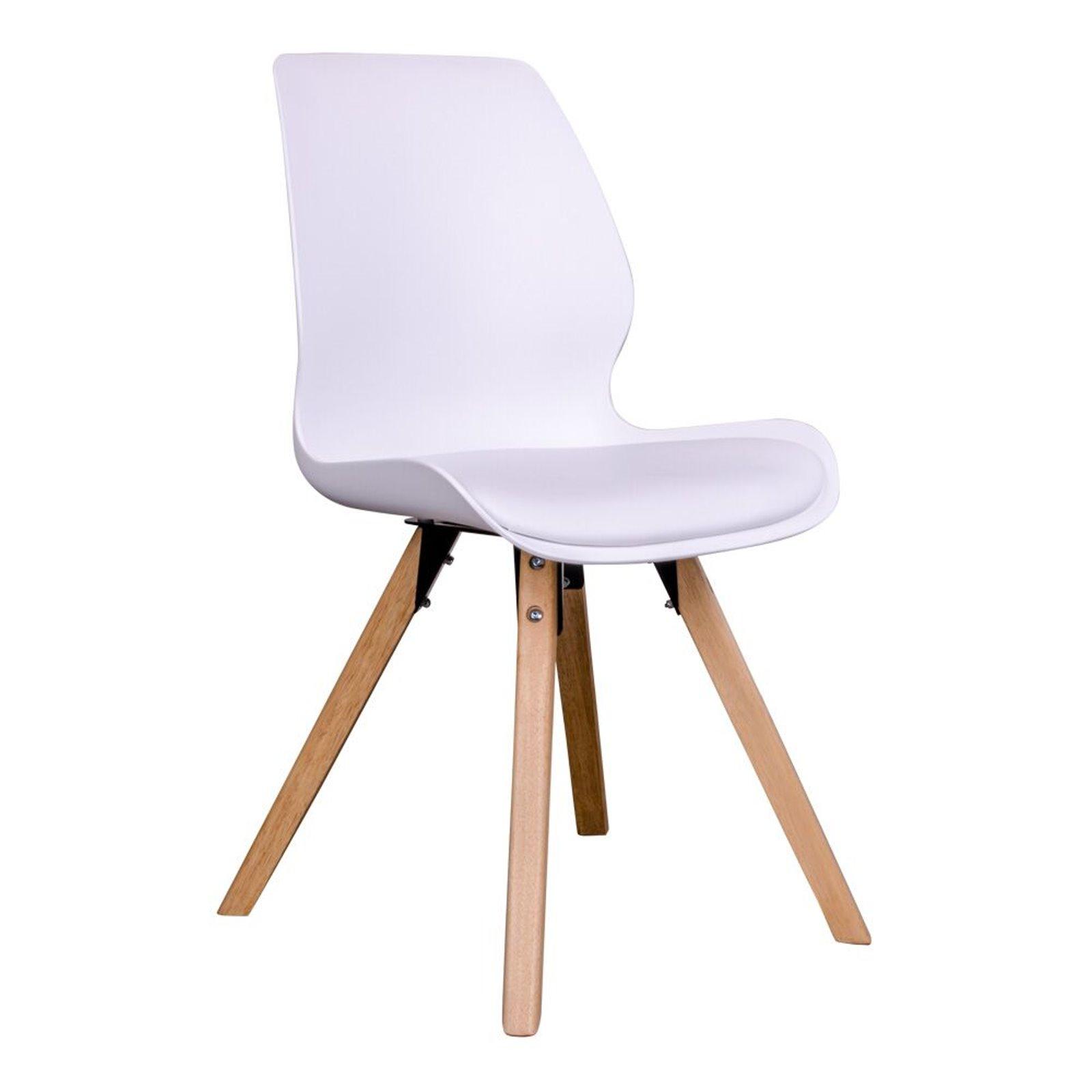 2 x designerstuhl rie wei schalenstuhl esszimmerst hle for Schalenstuhl outdoor