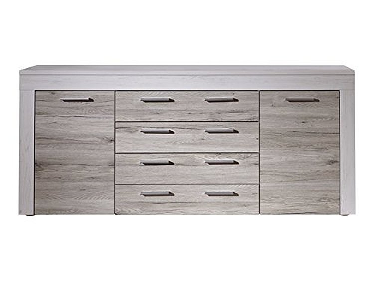 sideboard boom eiche sand pinie wei kommode schrank wohnzimmer holz highboard 4251219704524 ebay. Black Bedroom Furniture Sets. Home Design Ideas