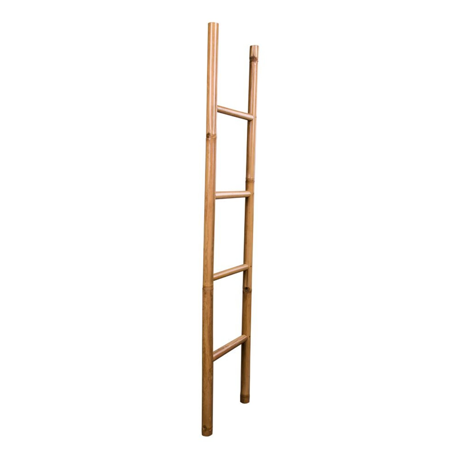 pkline bambusleiter brown natur 150 cm dekoleiter handtuchhalter bad bambus m bel wohnen. Black Bedroom Furniture Sets. Home Design Ideas