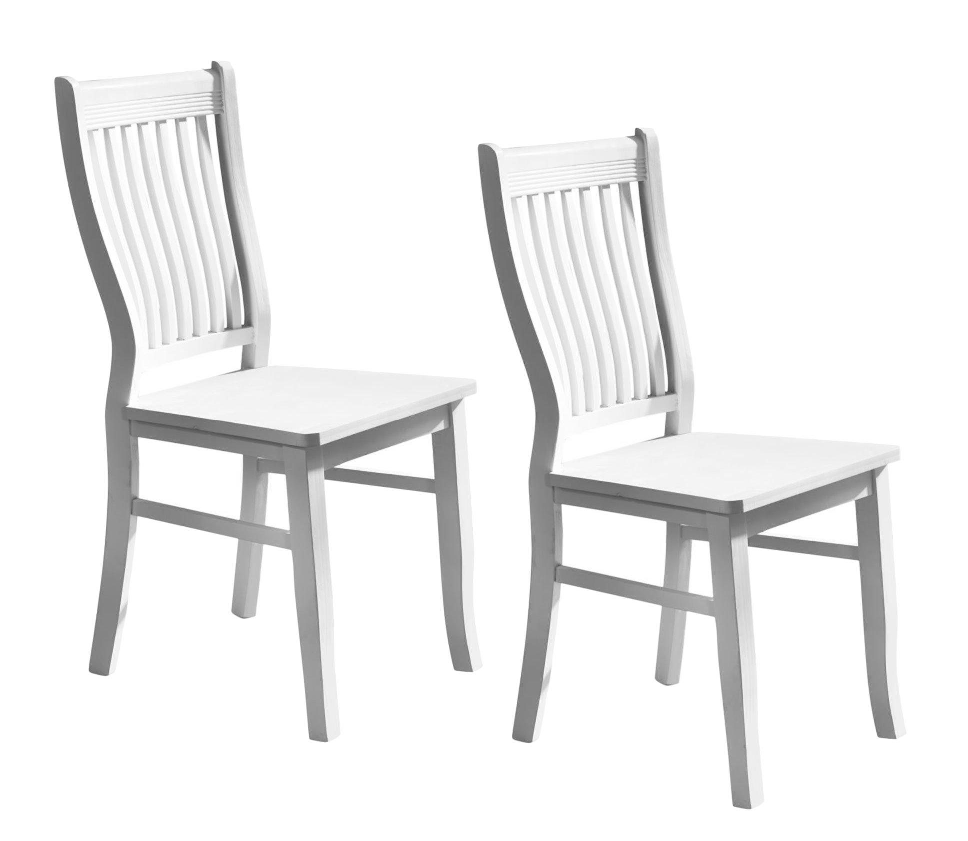 2x esszimmerstuhl k chenstuhl holzstuhl massivholz esszimmer stuhl landhaus wei ebay. Black Bedroom Furniture Sets. Home Design Ideas