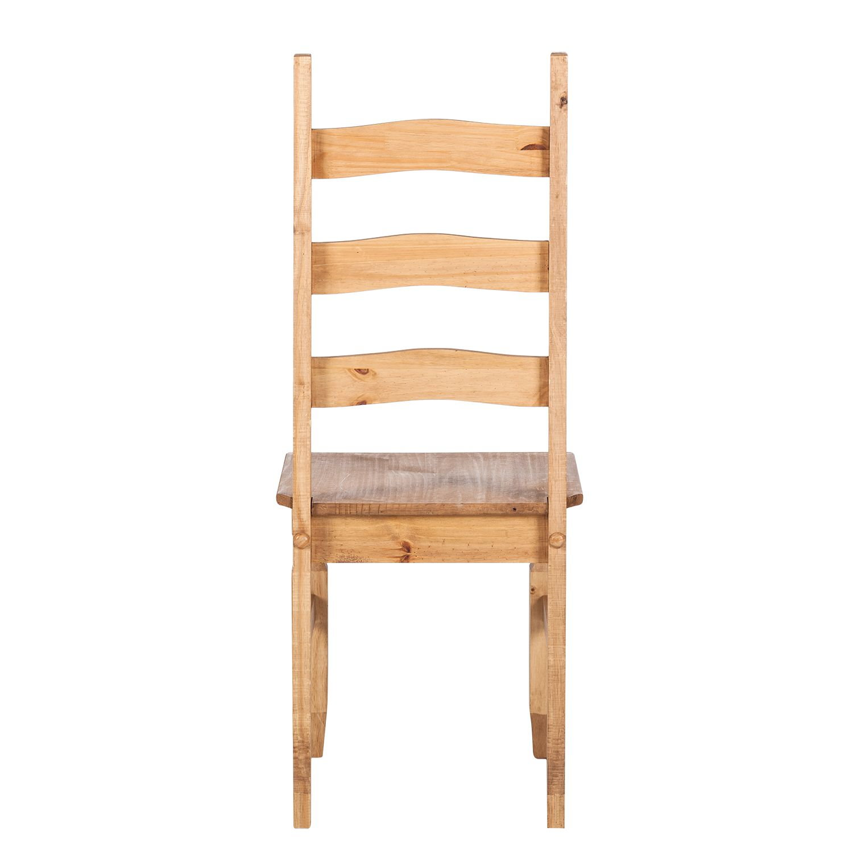 2x holz stuhl kiefer massiv stuhlset landhaus esszimmer st hle mexico gewachst ebay. Black Bedroom Furniture Sets. Home Design Ideas