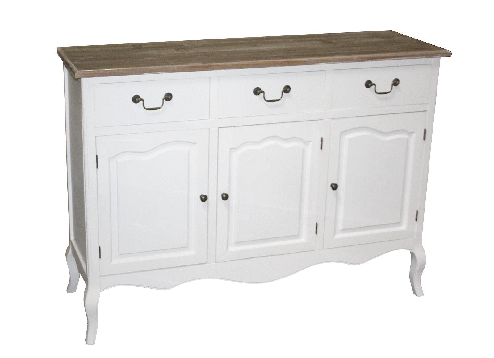maison belfort kommode mauriac ii shabby look sideboard weiss schrank anrichte. Black Bedroom Furniture Sets. Home Design Ideas