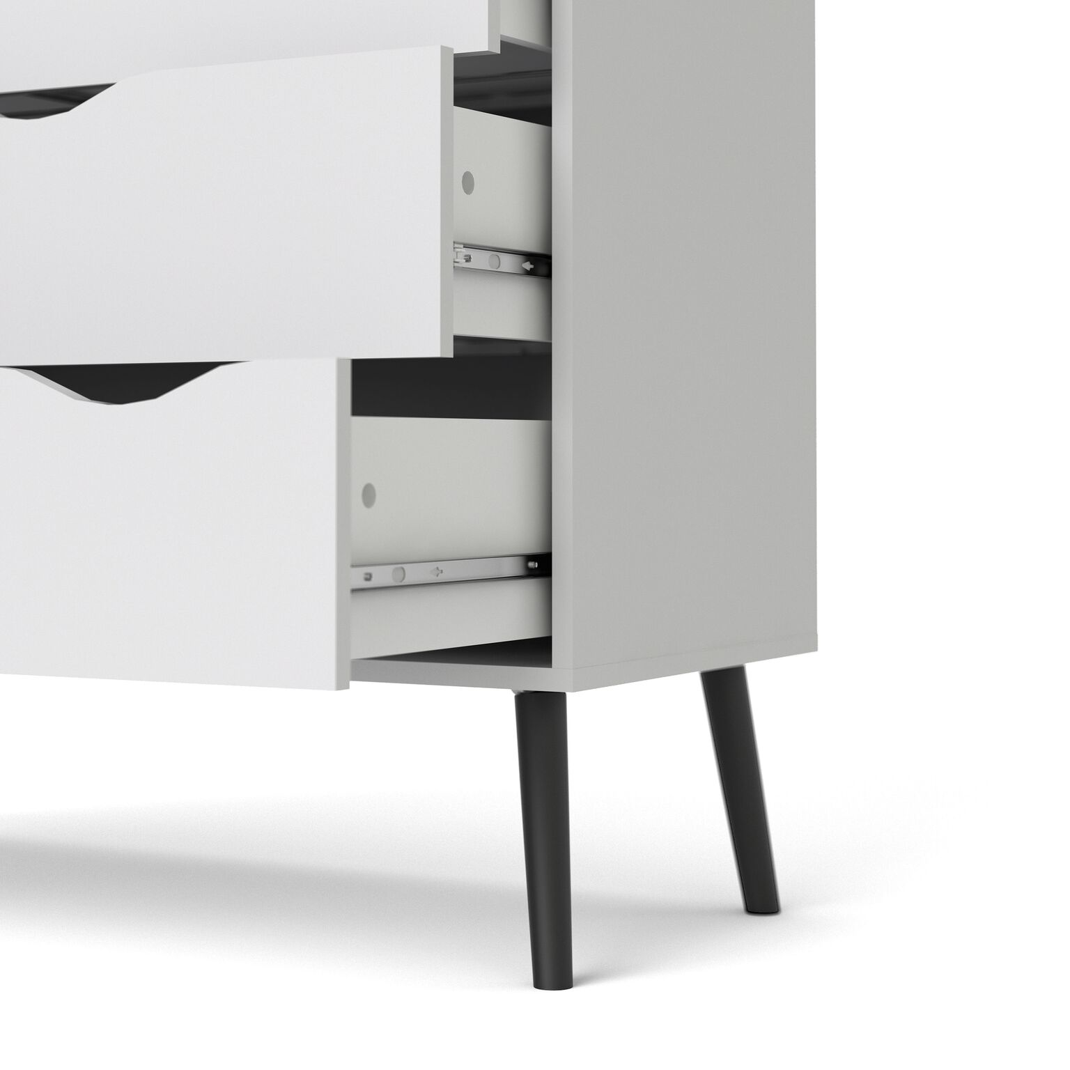 kommode napoli sideboard anrichte schrank highboard schwarz wei m bel wohnen schr nke vitrinen. Black Bedroom Furniture Sets. Home Design Ideas