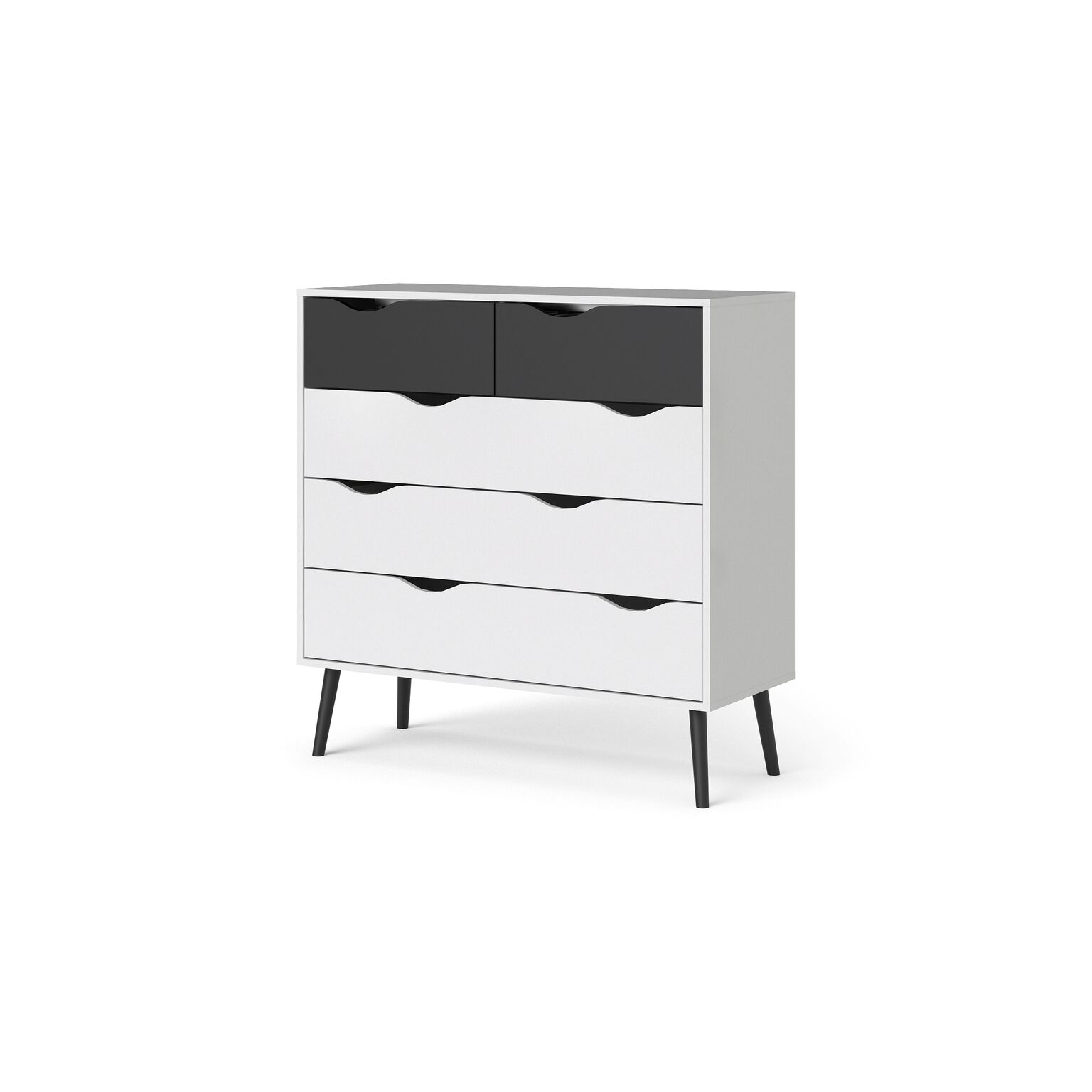 kommode napoli sideboard anrichte schrank highboard schwarz wei ebay. Black Bedroom Furniture Sets. Home Design Ideas