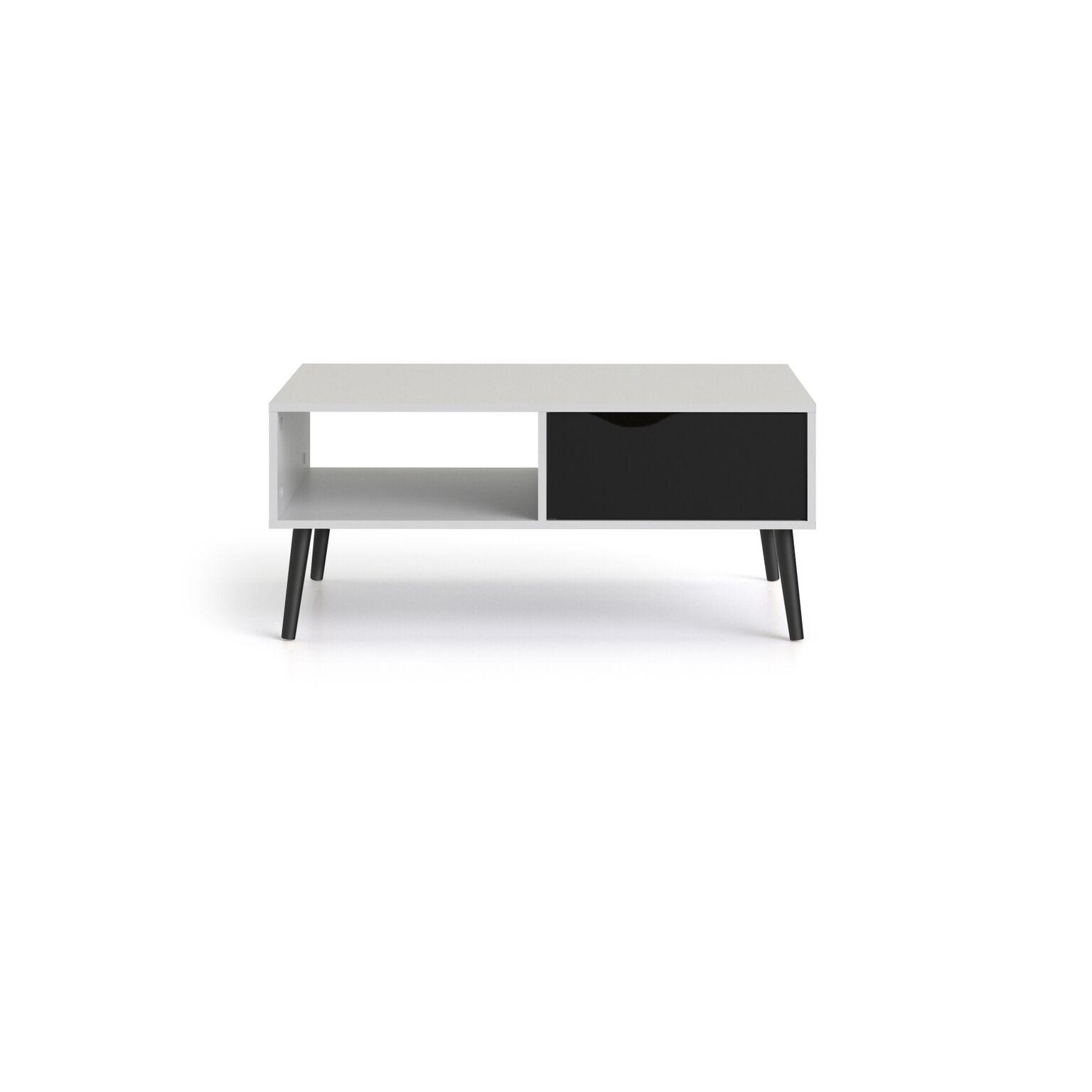Couchtisch NAPOLI Wohnzimmertisch Beistelltisch Tisch Wohnzimmer schwarz/weiß Möbel & Wohnen ...