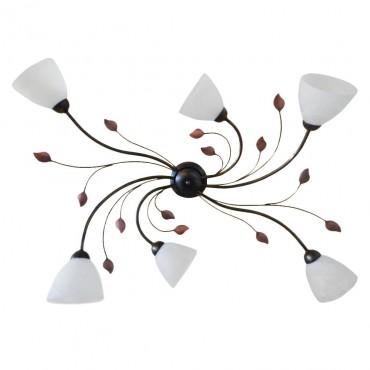 Deckenleuchte 6 Flammig Deckenlampe Wand Wohnzimmer Lampe Leuchte Metall Glas Bild 1