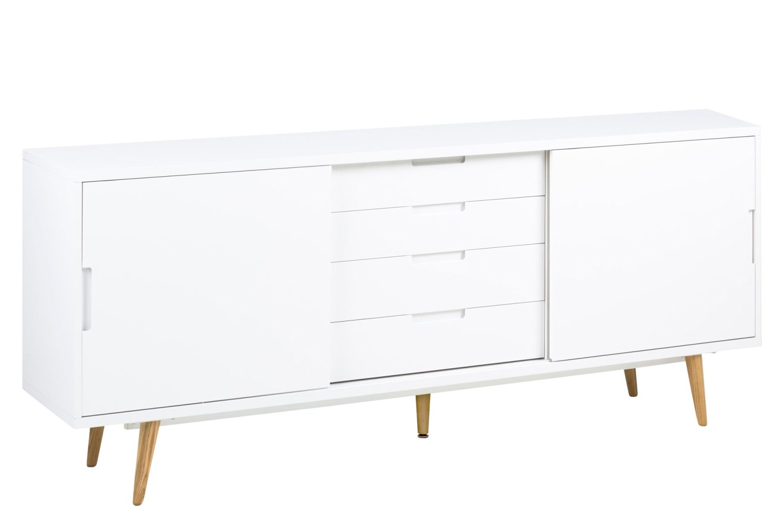 pkline anrichte emmie in weiss hochglanz sideboard kommode schrank m bel wohnen schr nke. Black Bedroom Furniture Sets. Home Design Ideas