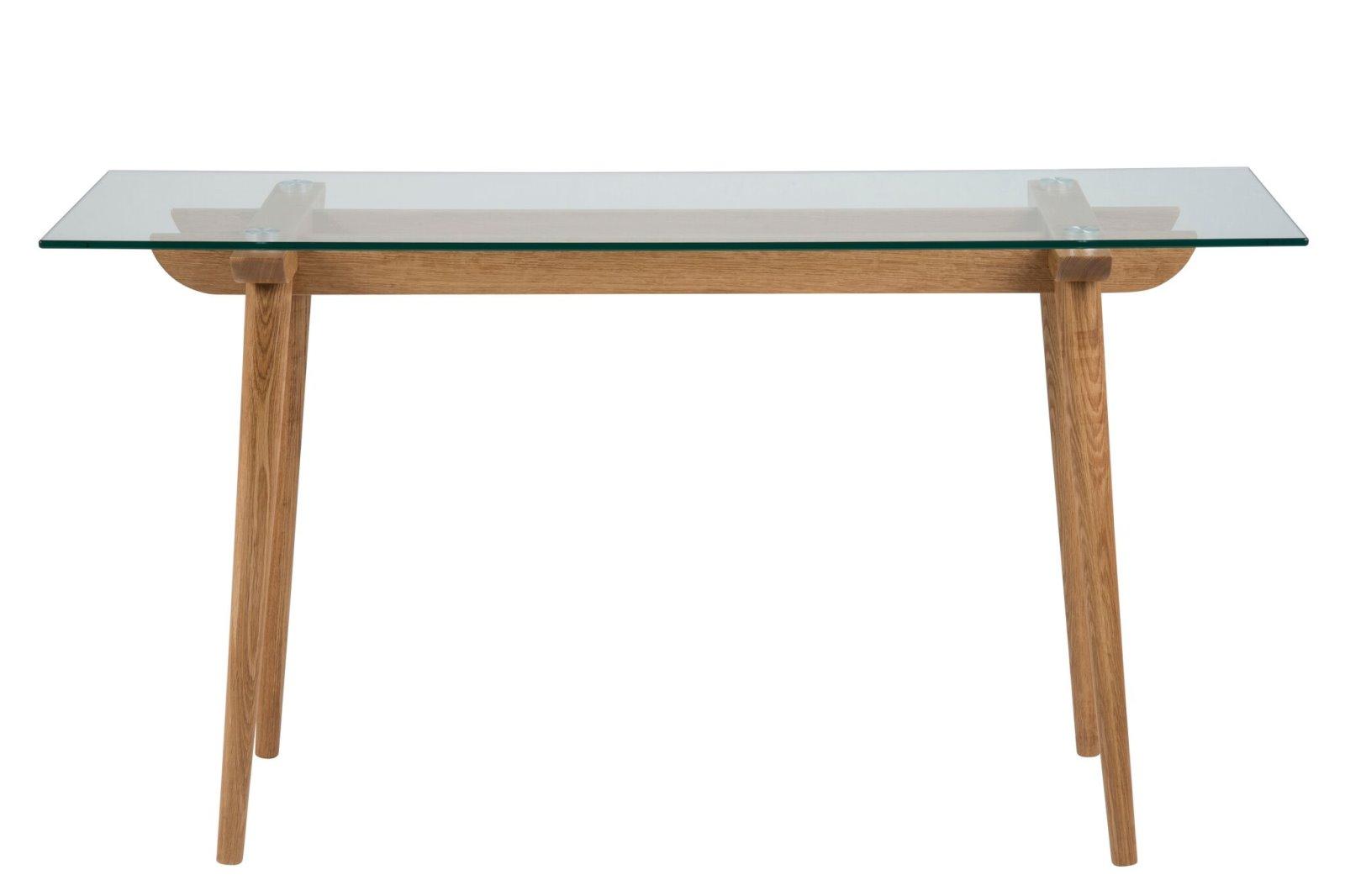 pkline konsolentisch ted aus glas und eiche schminktisch tisch glastisch m bel wohnen. Black Bedroom Furniture Sets. Home Design Ideas