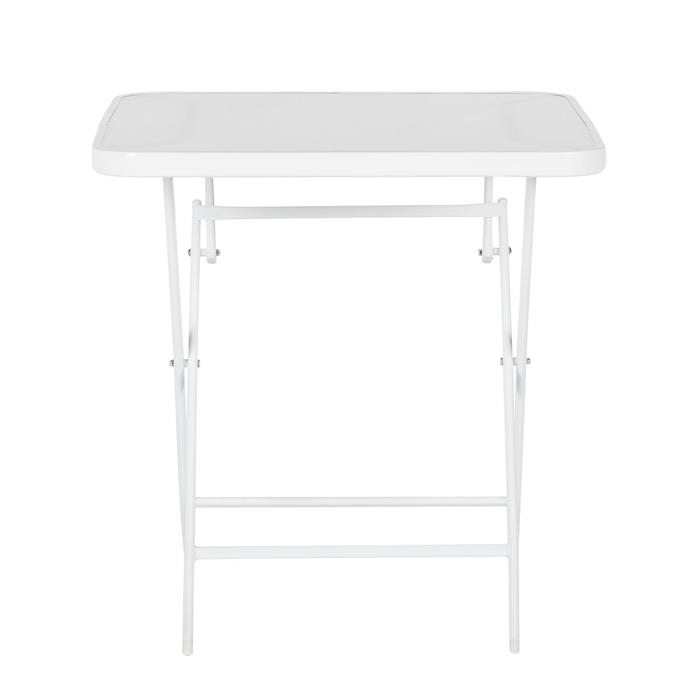 Jard n mesa plegable 70cm cristal metal balc n campamento for Mesa jardin cristal amazon