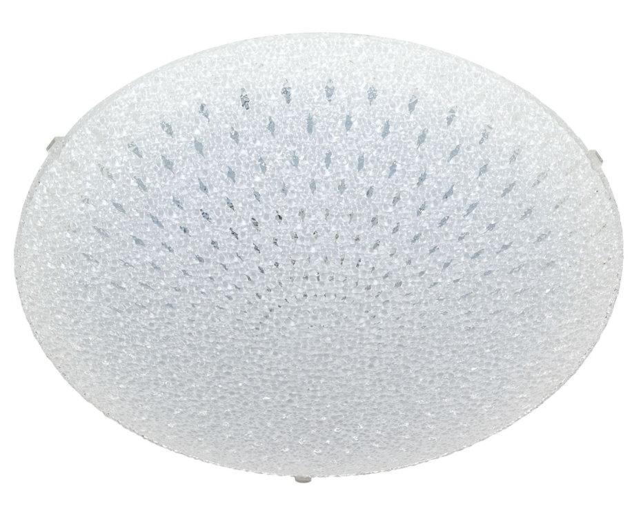 LED Glas Deckenleuchte Weiss 40cm Deckenlampe Lampe Leuchte Wohnzimmer Esszimmer