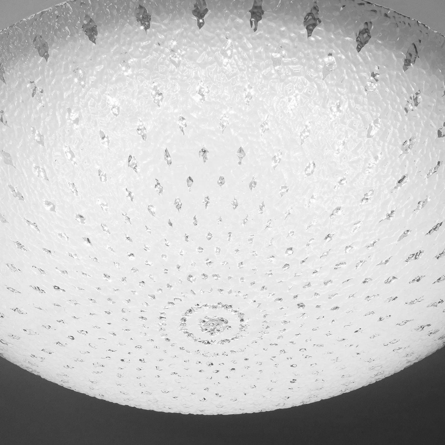 LED Glas Deckenleuchte Weiss 40cm Deckenlampe Lampe Leuchte Wohnzimmer Esszimmer Bild 3