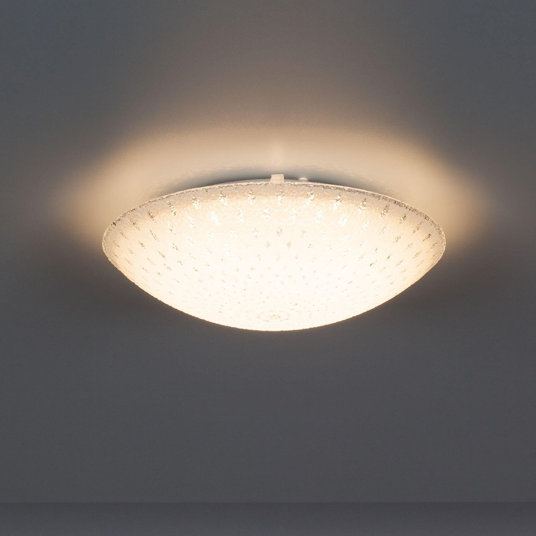 LED Glas Deckenleuchte Weiss 40cm Deckenlampe Lampe Leuchte Wohnzimmer Esszimmer Bild 5