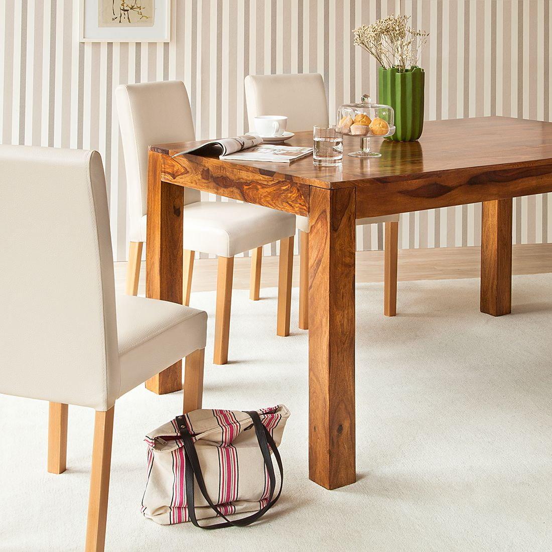 esstisch sheesham honigbraun 200x90cm esszimmer holz tisch massiv esszimmer ebay. Black Bedroom Furniture Sets. Home Design Ideas