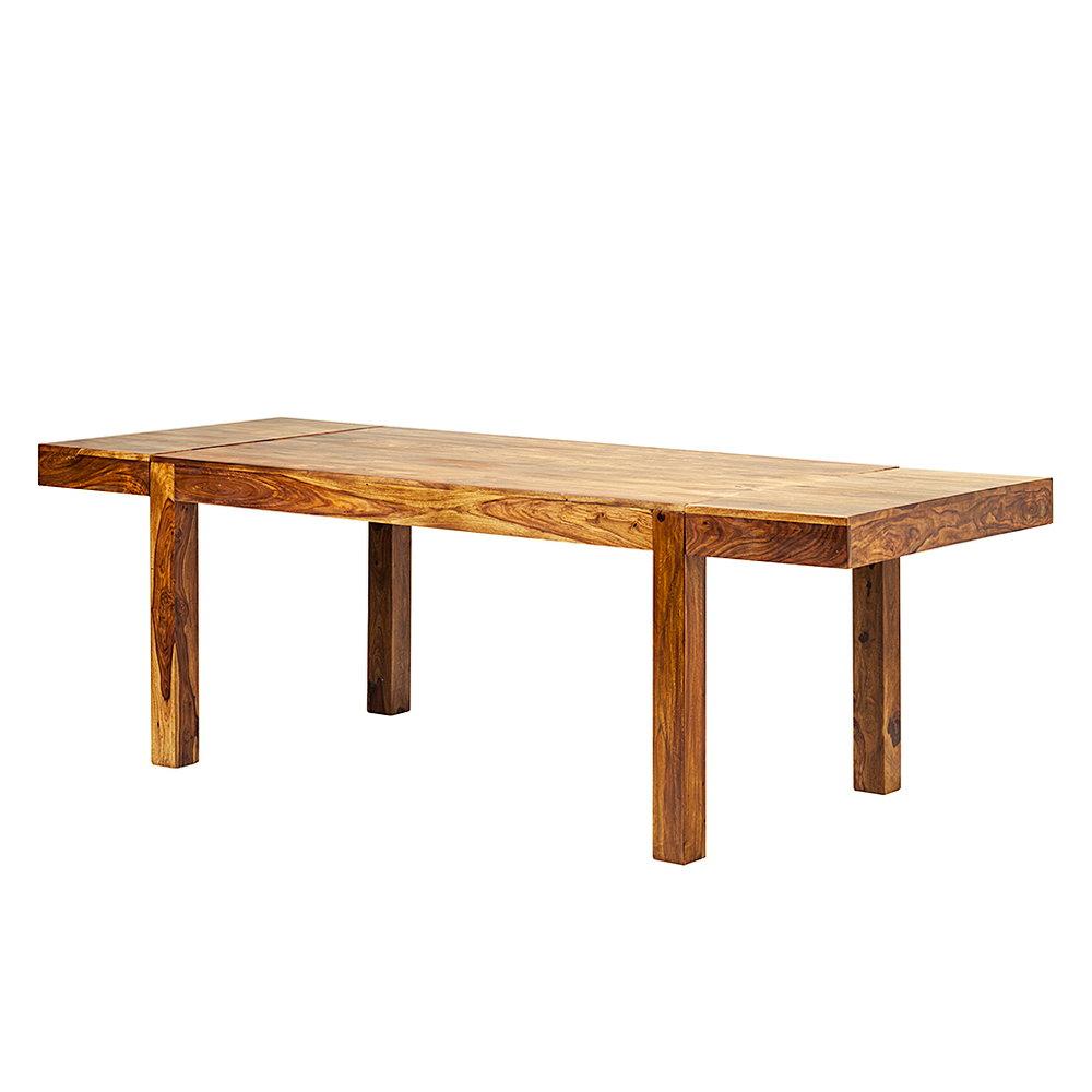 Esstisch Sheesham Honigbraun 160/240x90cm Esszimmer Holz Tisch Massiv  Esszimmer U2013 Bild 2