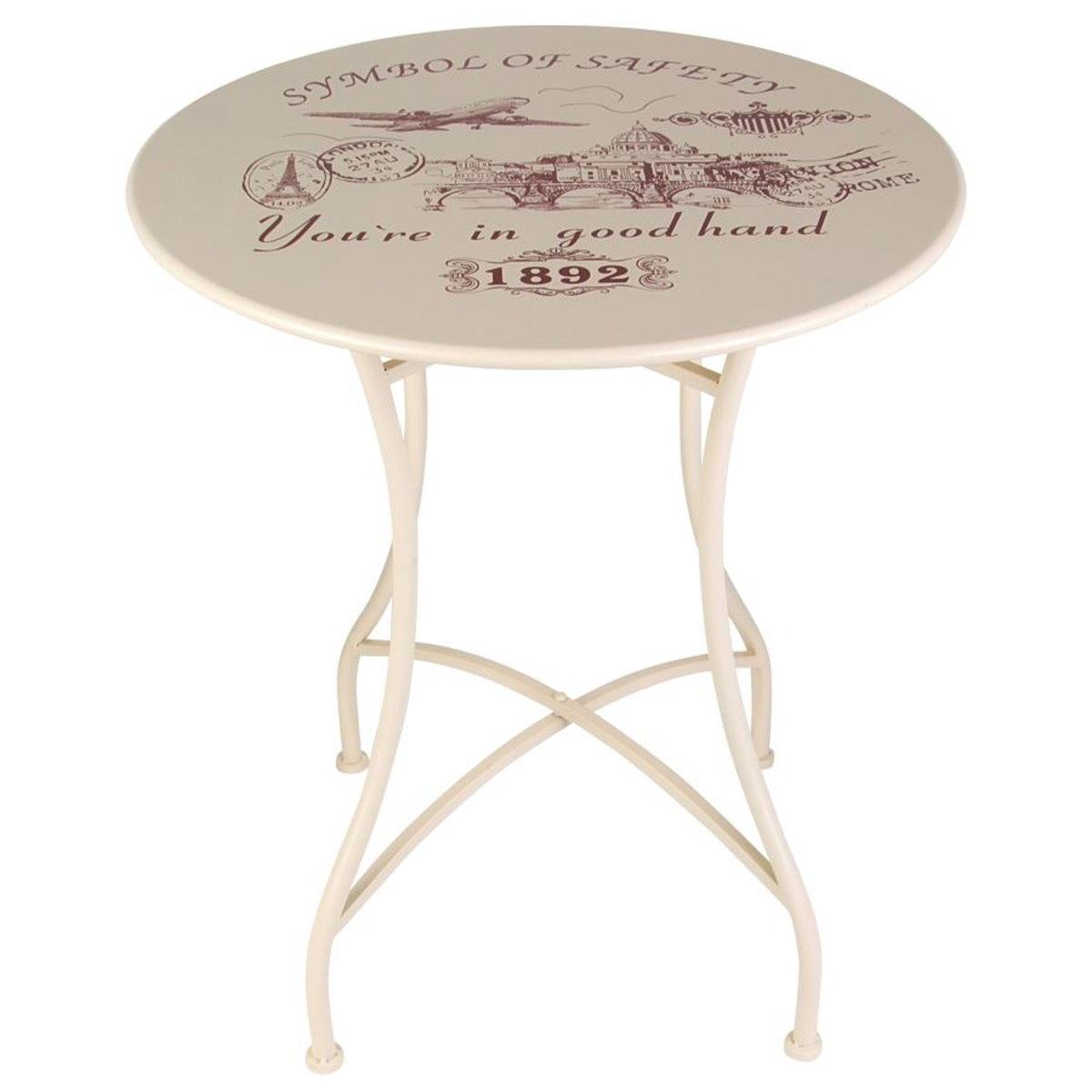 3tlg vintage set de balcon look shabby jardin terrasse m tal chaise table ebay. Black Bedroom Furniture Sets. Home Design Ideas