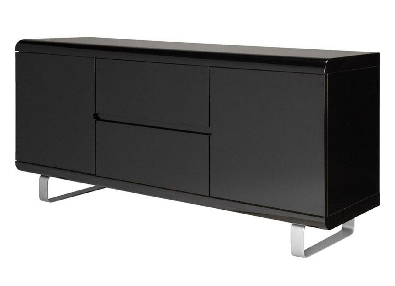 sideboard spacy hochglanz schwarz kommode schubladen. Black Bedroom Furniture Sets. Home Design Ideas
