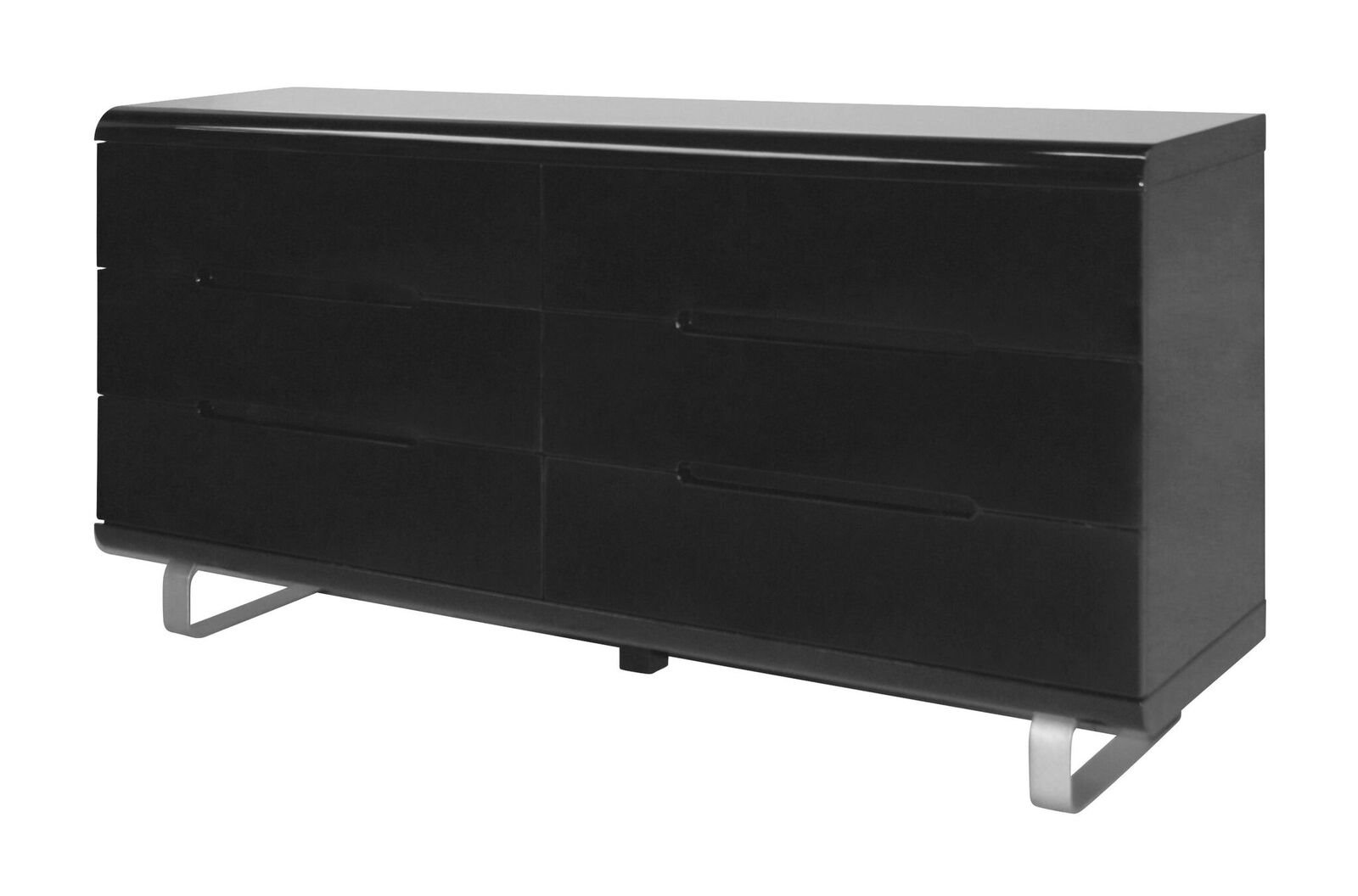 kommode spacy hochglanz schwarz sideboard schubladen. Black Bedroom Furniture Sets. Home Design Ideas