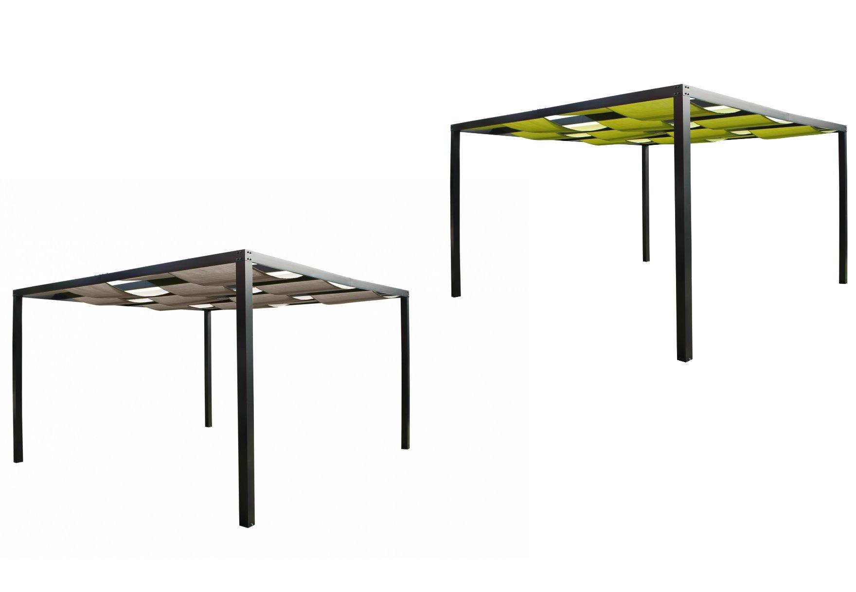 leco alu pergola loft 360x360cm terrasse berdachung. Black Bedroom Furniture Sets. Home Design Ideas