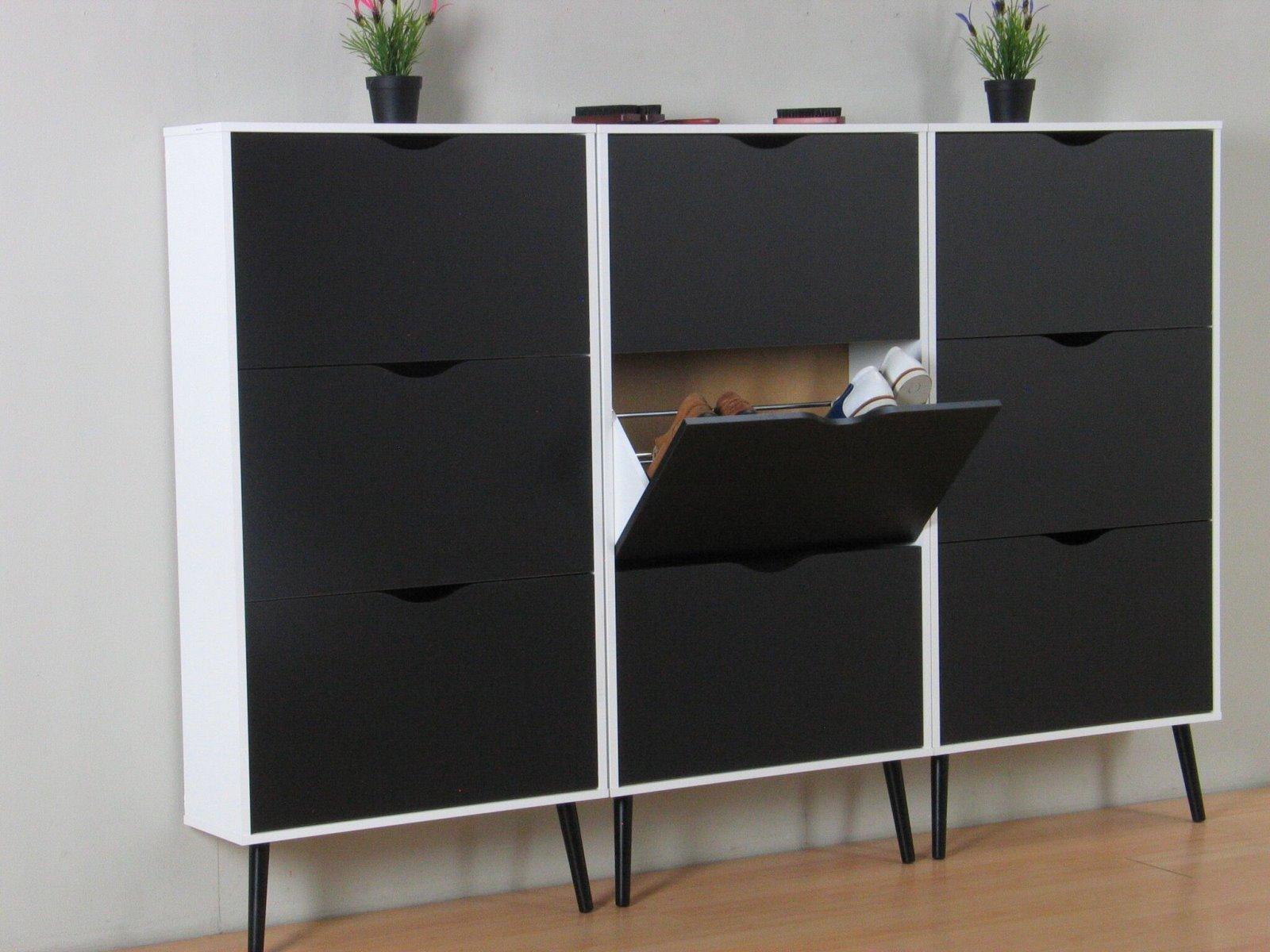 3x schuhschrank napoli schuhkipper schuhregal flur dielen. Black Bedroom Furniture Sets. Home Design Ideas