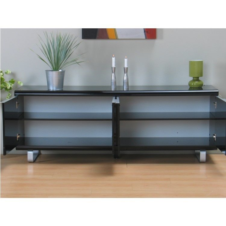 sideboard milano kommode schrank buffet highboard anrichte schwarz hochglanz m bel wohnen. Black Bedroom Furniture Sets. Home Design Ideas