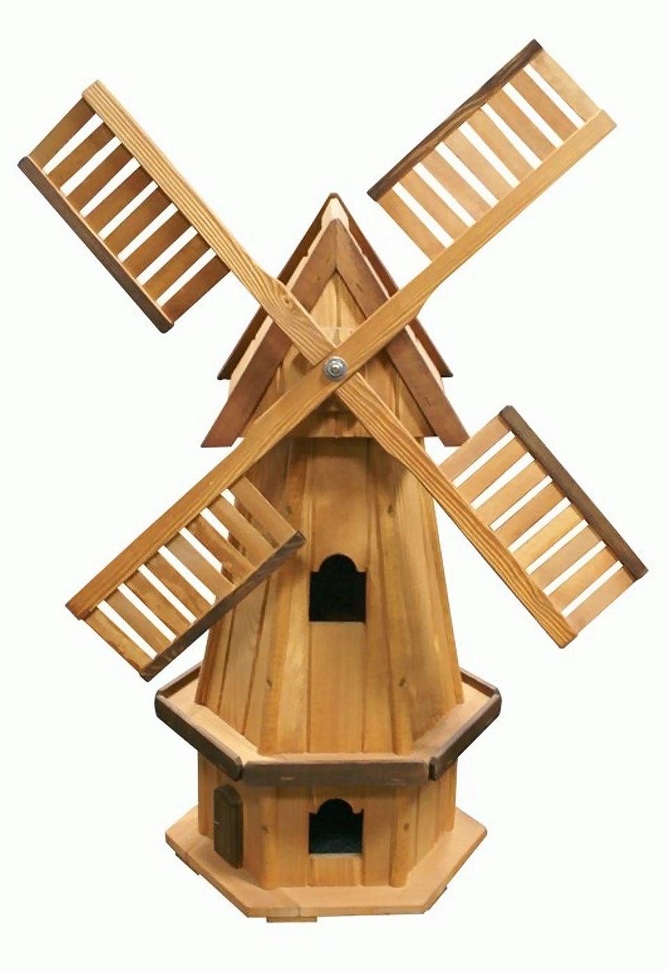 holz windm hle 6eckig 100cm m hle windspiel windrad garten. Black Bedroom Furniture Sets. Home Design Ideas