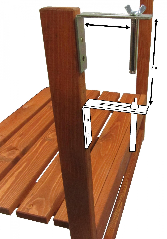 holz balkontisch 63x40 cm klapptisch balkon h ngetisch tisch klappbar massiv garten m bel. Black Bedroom Furniture Sets. Home Design Ideas