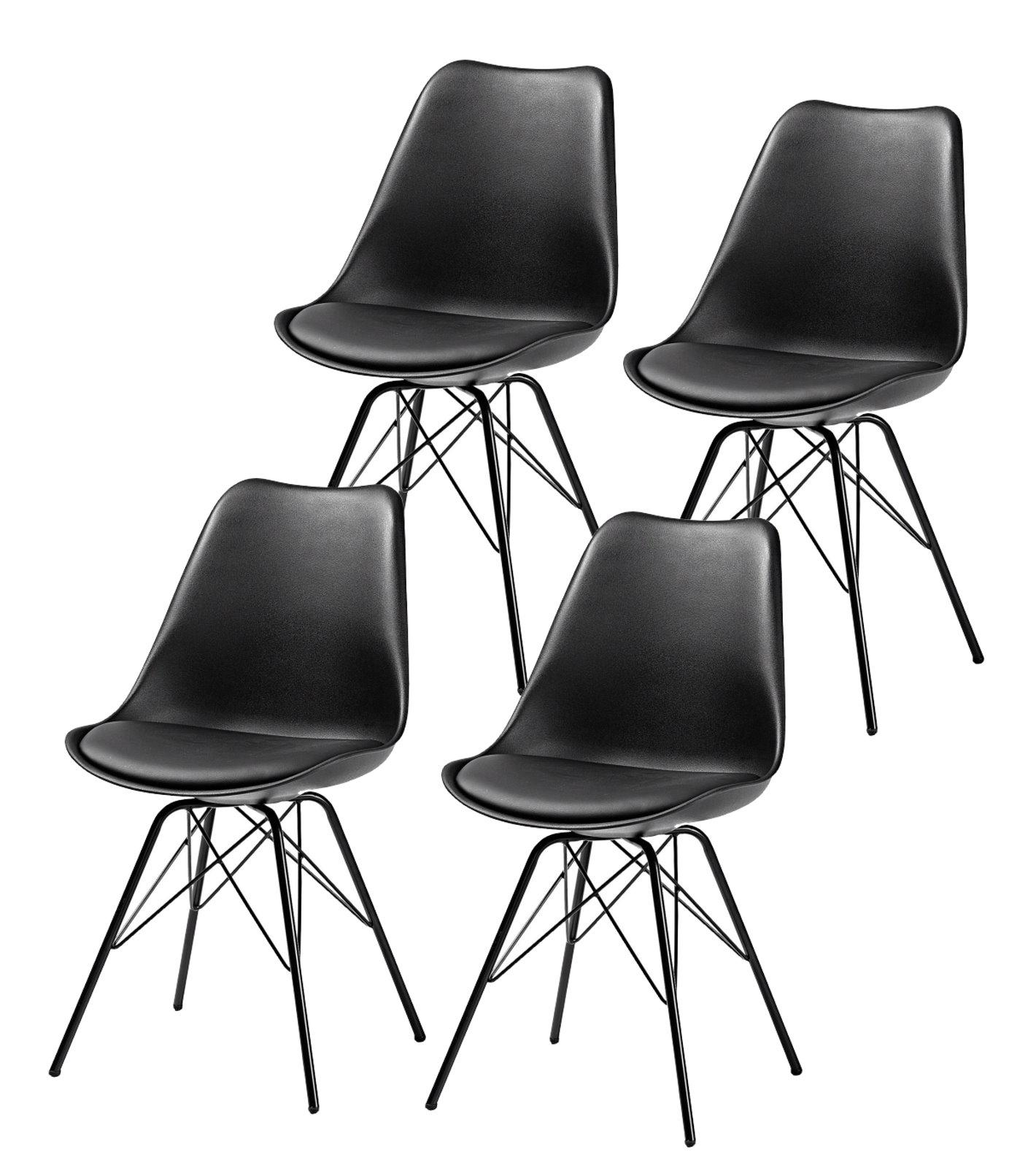 4x retro design esszimmerstuhl stuhlset metall stuhl for Esszimmerstuhl metall