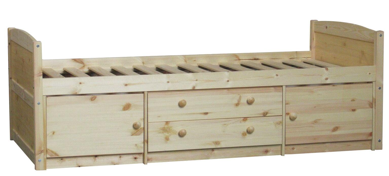 flexa schubladenbett 90x190 lattenrost kinderbett jugendbett bett kiefer massiv dynamic. Black Bedroom Furniture Sets. Home Design Ideas