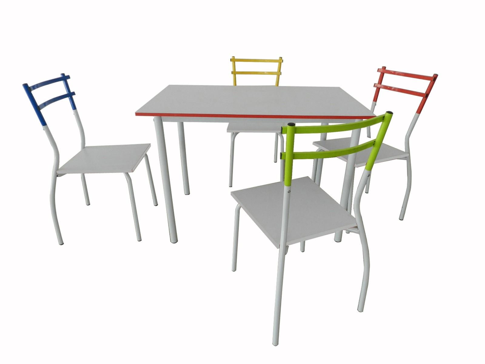 BECO 5tlg. Essgruppe Esstisch Stühle Küchentisch Wohnzimmer Küche ...