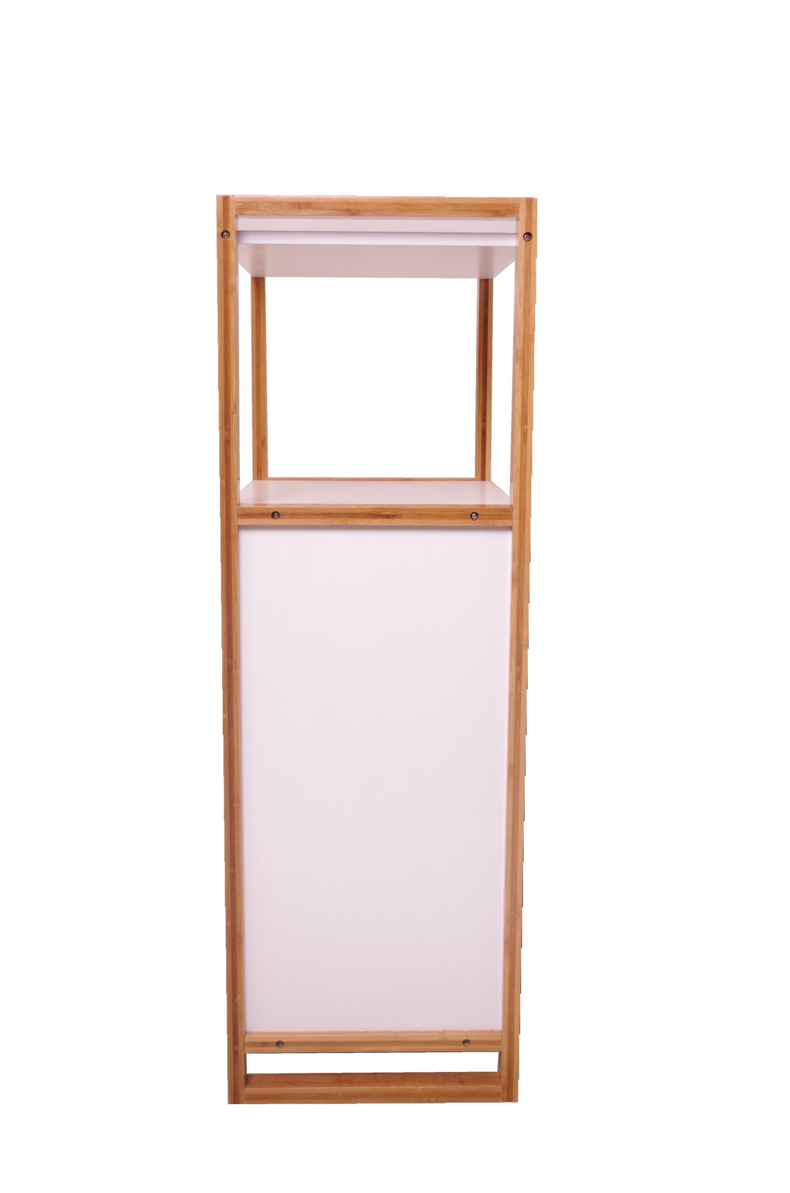 Badezimmerschrank mit wäschekorb  BECO Bambus Badschrank Holz Wäschekorb Bad Badezimmer Schrank ...