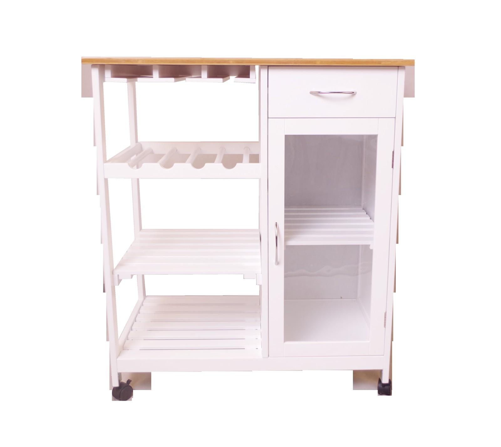 beco k chenwagen servierwagen teewagen bambus arbeitsplatte k che m bel ebay. Black Bedroom Furniture Sets. Home Design Ideas