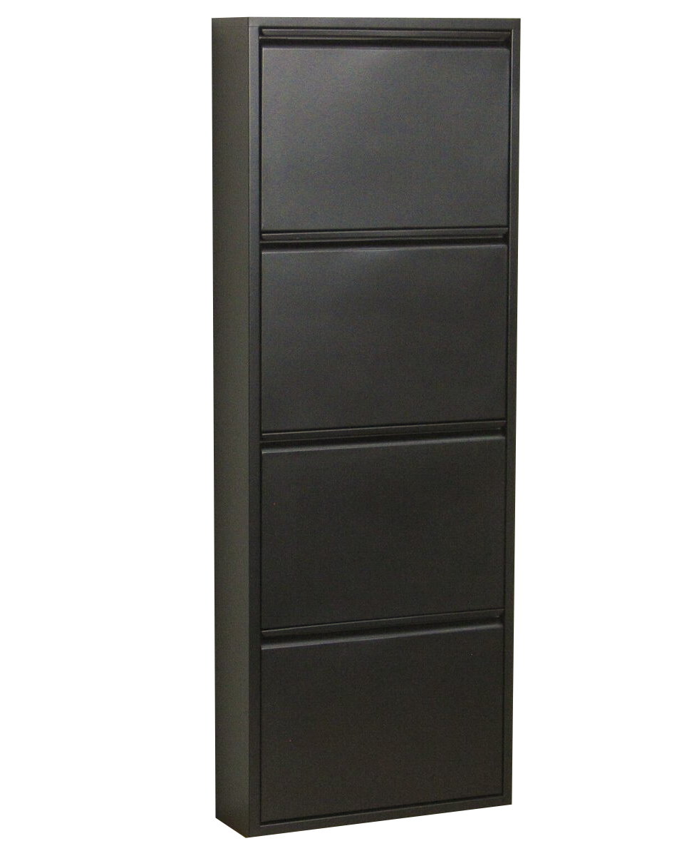 schuhschrank pisa 4 klappen metall schuhkipper schuhregal schuhablage schrank dynamic. Black Bedroom Furniture Sets. Home Design Ideas