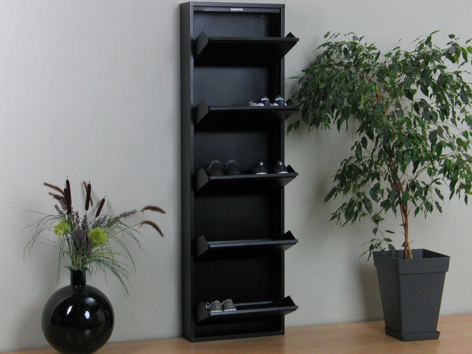 schuhschrank pisa 5 klappen metall schuhkipper schuhregal. Black Bedroom Furniture Sets. Home Design Ideas