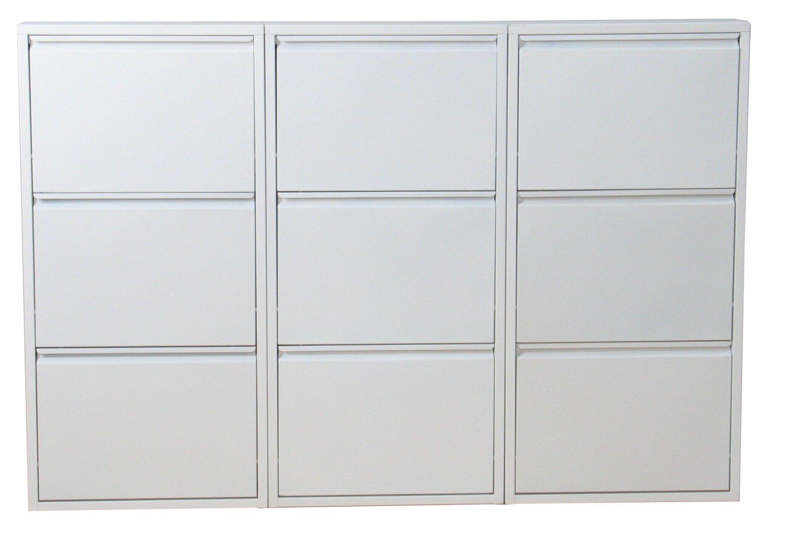 xxl schuhschrank pisa 9 klappen metall schuhkipper. Black Bedroom Furniture Sets. Home Design Ideas