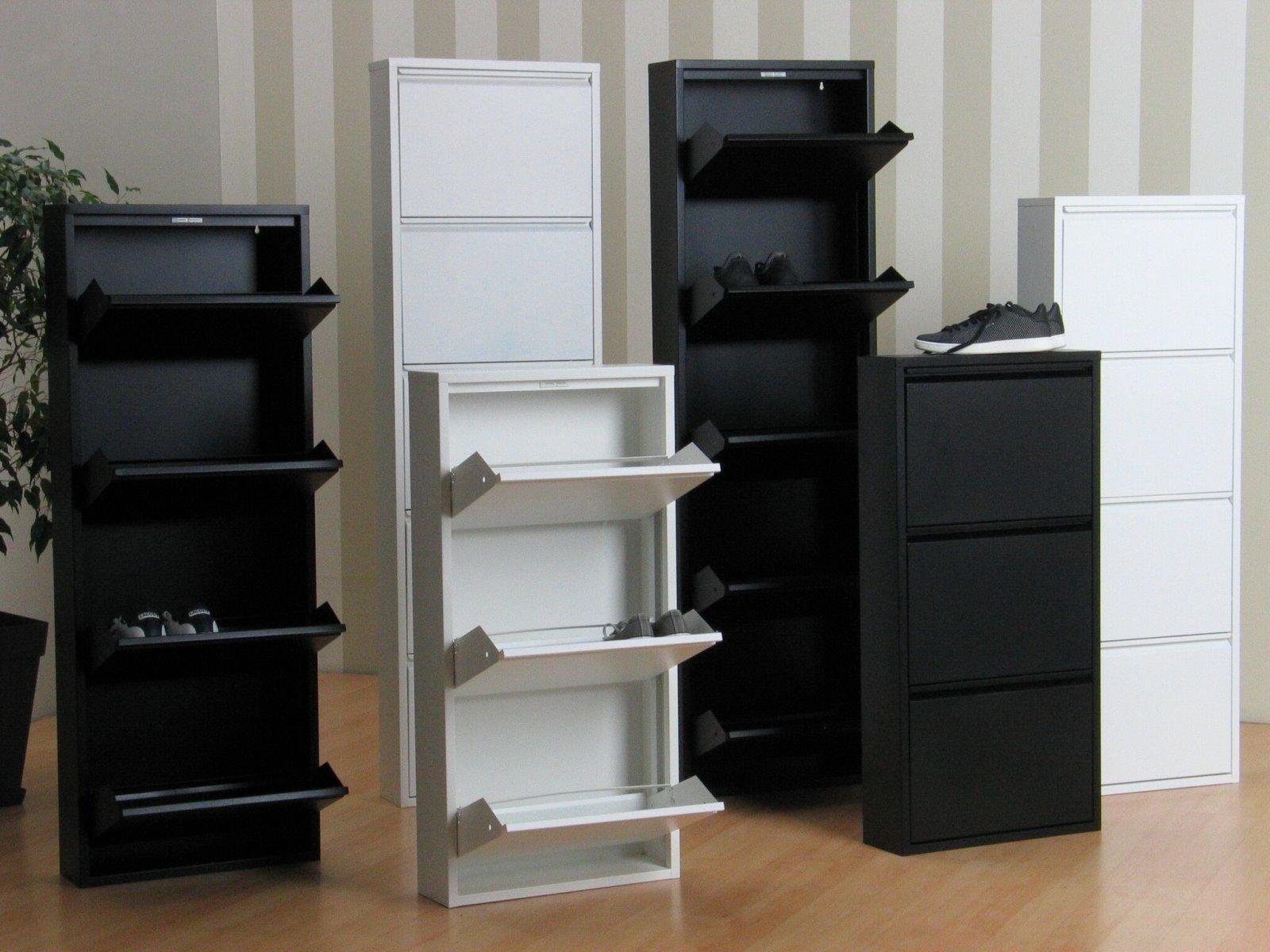Xl mueble para calzado pisa 6 doblez metal armario de for Mueble zapatero ebay