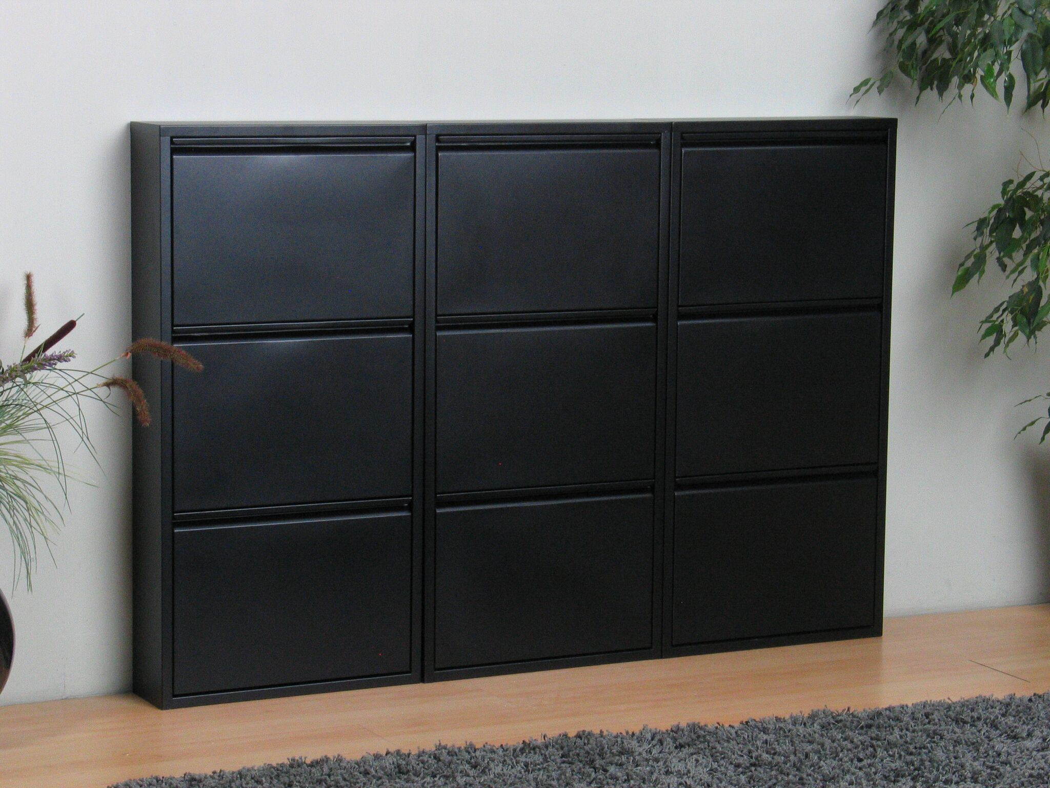 xxl schuhschrank pisa 9 klappen metall schuhkipper schuhregal schuhablage ebay. Black Bedroom Furniture Sets. Home Design Ideas