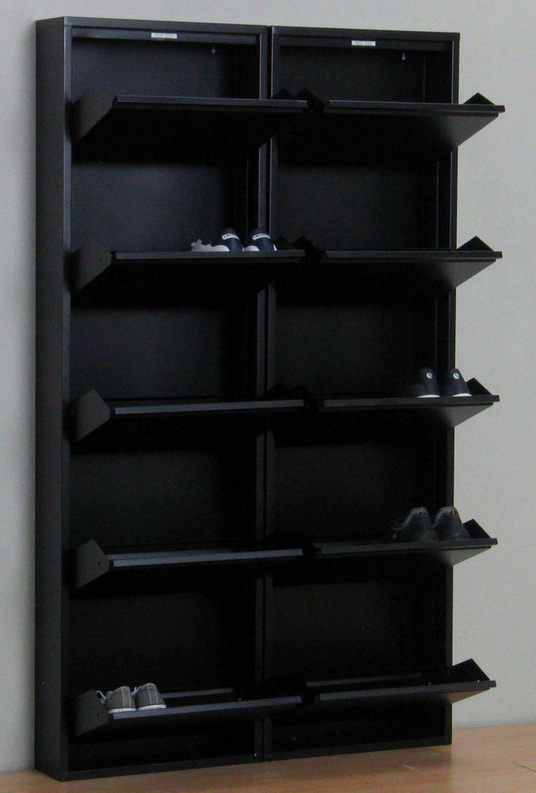 Xl Schuhschrank Pisa 10 Klappen Metall Schuhkipper