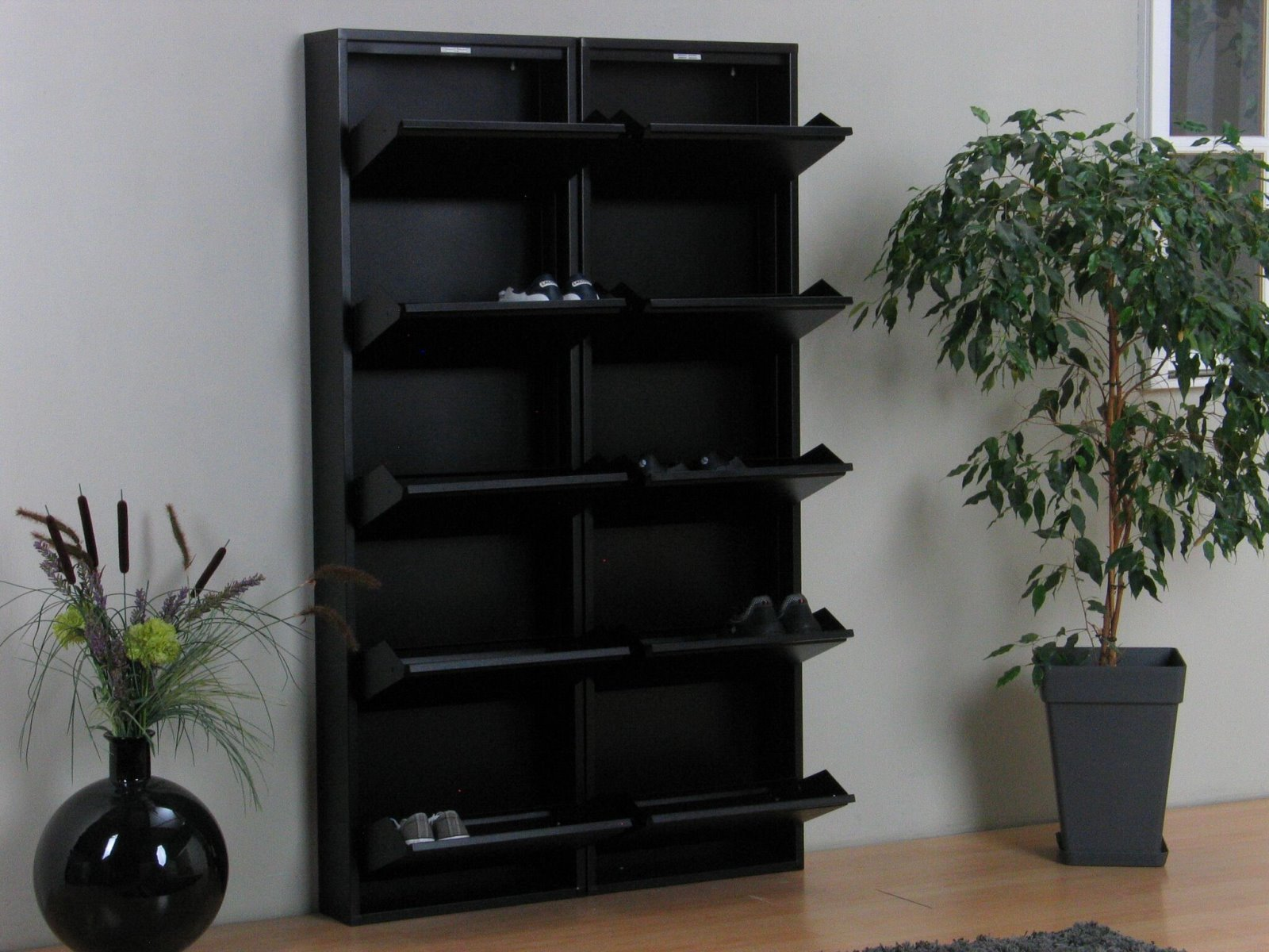 xl schuhschrank pisa 10 klappen metall schuhkipper schuhregal schuhablage schrank m bel wohnen. Black Bedroom Furniture Sets. Home Design Ideas