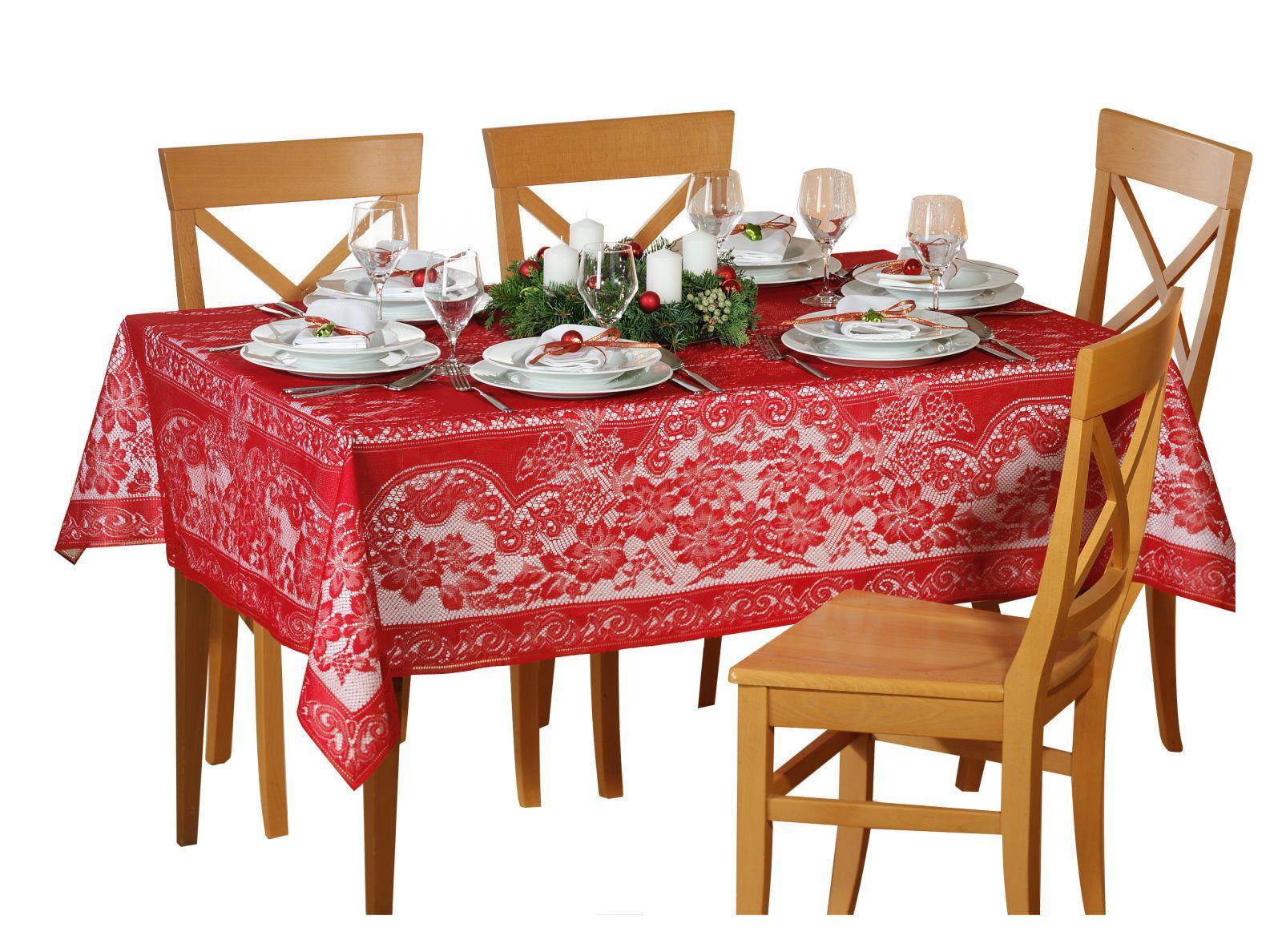 spitzen tischdecke 135x180 tisch decke tafel tuch tischl ufer eckig ebay. Black Bedroom Furniture Sets. Home Design Ideas