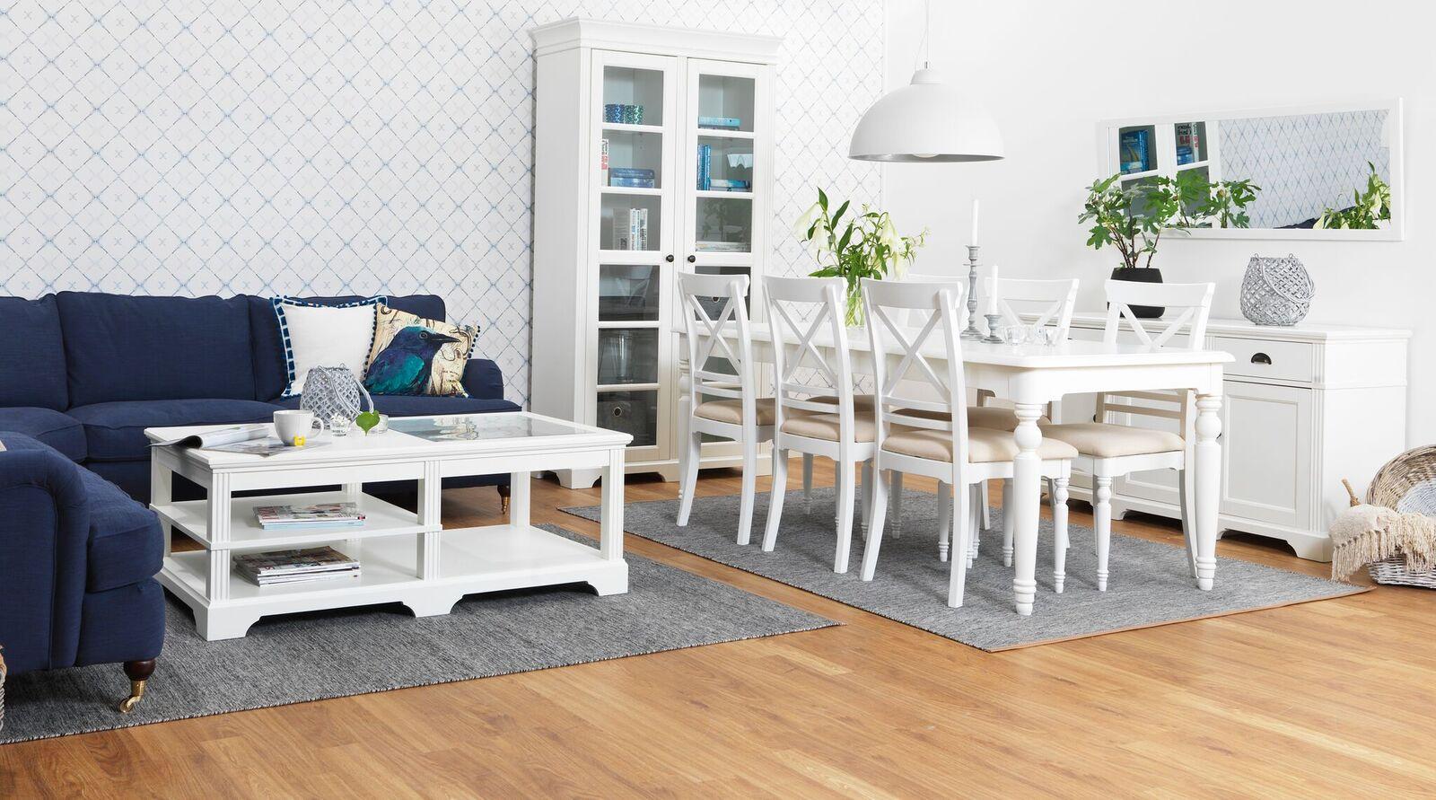 couchtisch charlot 70x130 cm wohnzimmer glas tisch beistelltisch teilmassiv wei m bel wohnen. Black Bedroom Furniture Sets. Home Design Ideas